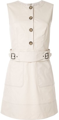 Paule Ka Sleeveless Belted Dress