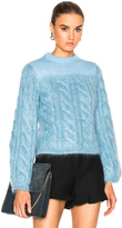 Fendi Cable Silk Mohair Sweater