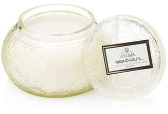 Voluspa Japonica Nissho Soleil Embossed Glass Chawan Bowl Candle