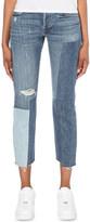 Levi's 501 patchwork slim-fit mid-rise jeans