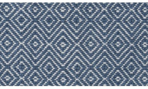 Camilla And Marc Weaver Green - Navy Diamond Rug 240 X 70 Cm - 240 x 70 cm