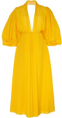 Emilia Wickstead Puffed-Sleeve Cotton-Blend Dress