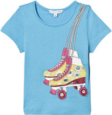 Little Marc Jacobs Blue Rollerboot Print Tee