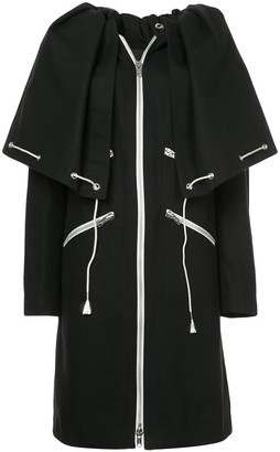 Calvin Klein Drawstring Cape Coat