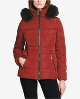 Calvin Klein Faux-Fur-Trimmed Hooded Puffer Coat