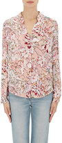 L'Agence WOMEN'S BIANCA FLORAL SILK BLOUSE