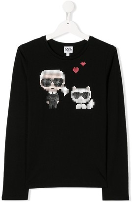 Karl Lagerfeld Paris long sleeve printed T-shirt