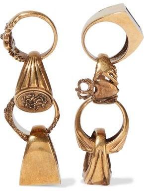 Stella McCartney Burnished Gold-tone Stone Earrings