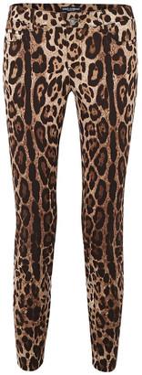 Dolce & Gabbana Cropped Leopard-print Skinny Jeans