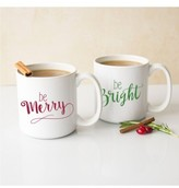 Cathy's Concepts Merry & Bright Set Of 2 Ceramic Mugs