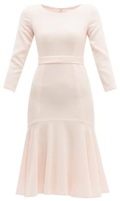 Goat Iris Fluted Wool-crepe Midi Dress - Light Pink