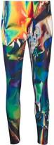 Junya Watanabe holographic digital print cropped leggings