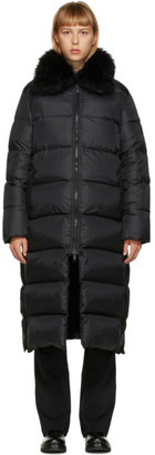 Army by Yves Salomon Yves Salomon - Army Black Down Long Jacket
