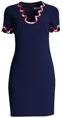 Trina Turk Flourish Swirl Trim Dress