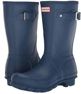 Hunter Short Rain Boots (Peak Blue) Women's Rain Boots