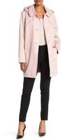 Kate Spade solid water-resistant hooded snap rain jacket