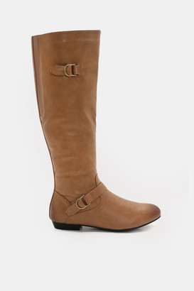 Ardene Knee-High Faux Leather Boots - Shoes |