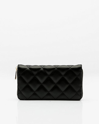 Le Château Zip Around Faux Leather Quilted Wallet