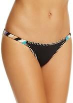 Ale By Alessandra Bonfire Crochet Trim Bikini Bottom
