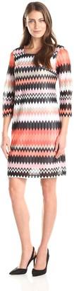Sandra Darren Women's 1 Pc Long Sleeve Knit Dress