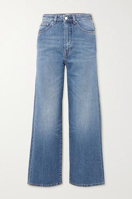 Totême High-rise Wide-leg Jeans - Mid denim