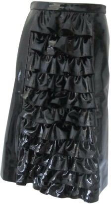Christopher Kane Black Patent leather Skirts