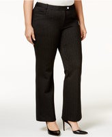 Calvin Klein Plus Size Pinstriped Trousers