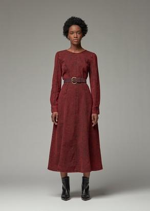 Rachel Comey Women's Ryne Dress in Red Size 2 100% Cotton