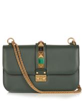 Valentino Lock large leather shoulder bag