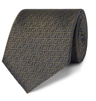 Fendi 8cm Logo-Jacquard Silk Tie