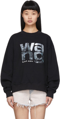 Alexander Wang Black Heavy Terry Sweatshirt