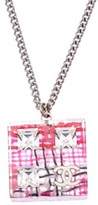 Chanel Pink Acrylic Cube Necklace.