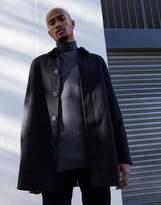 Asos Design ASOS DESIGN wool mix trench coat in black