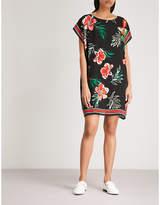 Claudie Pierlot Tropical-print silk mini dress