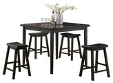 Acme Gaucho 5 Piece Counter Height Dining Set - Black