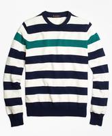 Brooks Brothers Contrast Chest Stripe Crewneck Sweater