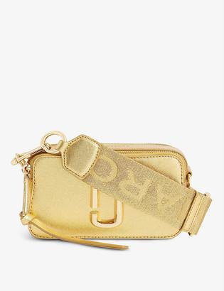 Marc Jacobs Snapshot metallic leather cross-body bag