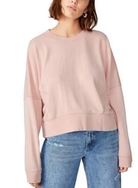 Cotton On Hayley Seam Detail Boxy Crew Sweatshirt