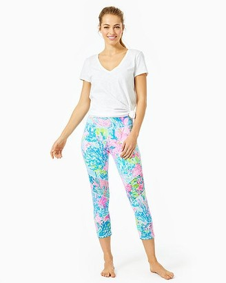 """Lilly Pulitzer UPF 50+ Luxletic 21"""" Weekender High Rise Crop Pant"""
