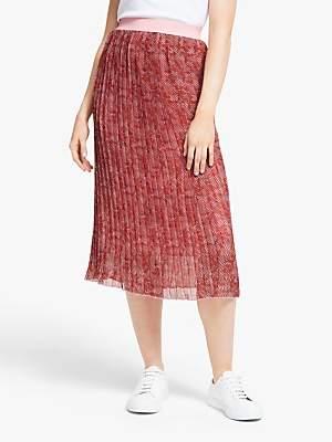 Y.A.S Holia Chiffon Pleated Skirt, Quartz Pink