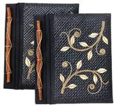 Pandanus journals (Set of 2), 'Dancing Leaves'