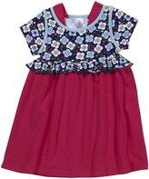 Zutano Blaue Blumen Ruffle Dress (Toddler/Kid) - Navy-5