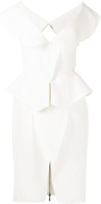 Maticevski Consecration crepe dress
