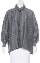 eskandar Wool-Blend Button-Up Top