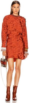 Chloé Long Sleeve Mini Dress in Burnt Ochre | FWRD