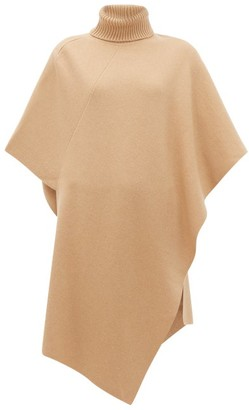 Chloé Roll-neck Cashmere Poncho - Womens - Camel