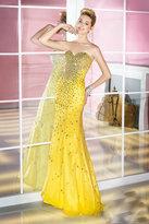 Alyce Paris - Bedazzled Strapless Sweetheart Long Mermaid Dress 6205