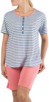 Claudel Two-Piece Striped Tee and Bermuda Shorts Pyjama Set