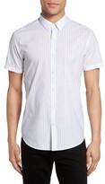 Theory Men's Zack S Trim Fit Stripe Sport Shirt