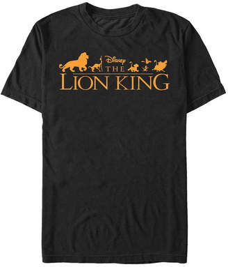 Disney Men The Lion King Official Movie Logo Short Sleeve T-Shirt